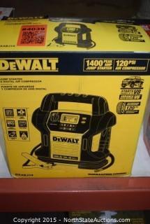 DeWalt Jump Starter and Digital Air Compressor