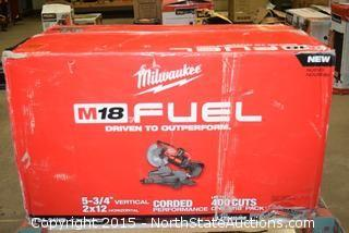 "Milwaukee 10"" Duel  Bevel Sliding  Compound Miter Saw"
