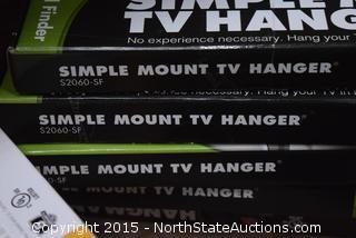 Lot of Simple Mount TV Hanger