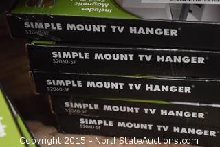 Lot of Simple Mount TV Hanger
