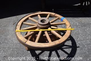 Wagon Wheel and Stump Table