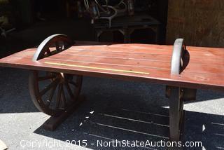 Wonderful Wagon Wheel Table