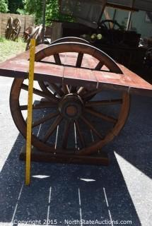 Wonderful Wagon Wheel Table