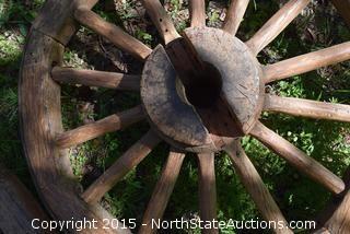 Lot of 4 Wagon Wheels