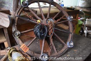 Wagon Wheel Chandelier/Fan
