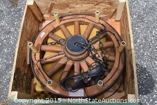 Wagon Wheel Candle Chandelier