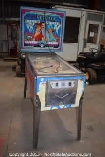 Bally Old Chicago Pinball Machine