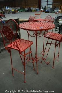 Pub Style Outdoor Metal Table and Chairs