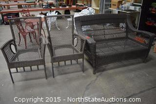 Patio/Outdoor Love Seat and Chairs