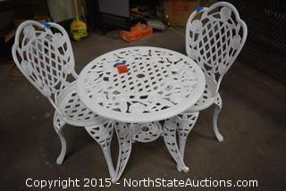 Metal Outdoor Table and Chairs