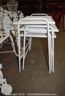 Small Metal Chairs and Nesting Tables