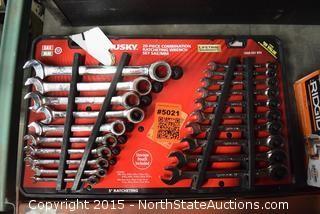 HUSKY 20-Piece Combination Ratcheting Wrench Set
