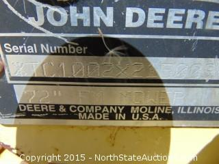 """1997 John Deere F925 Front Mower with Commerical 72 72"""" Cutter"""