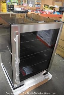 Magic Chef Stainless Steel Built-In Beverage Cooler