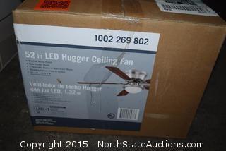 52in LED Hugger Ceiling Fan