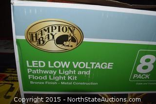 Hampton Bay LED Low Voltage Pathway Light and Flood Light Kit
