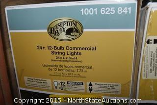 Hampton Bay 24ft 12-Bulb Commercial String Lights