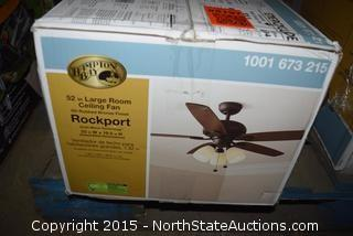 Hampton Bay 52in Large Room Ceiling Fan
