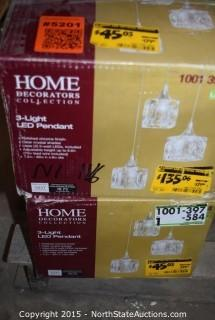 Lot of Home Decorators Collection 3-Light Pendant