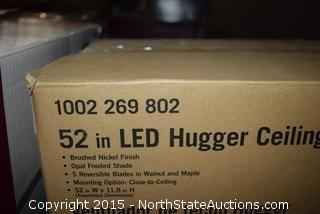 52in LED Hugger Ceiling Fan