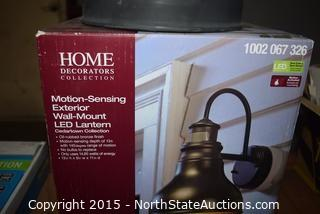 Home Decorators Collection Motion Sensing Exterior Wall-Mount LED Lantern