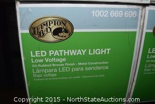 Lot of Hampton Bay LED Pathway Lights