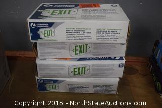 Lot of Exit Signs