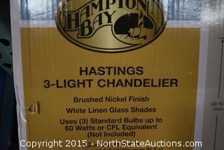 Hampton Bay 3-Light Chandelier