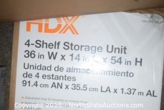 Lot of HDX Shelving