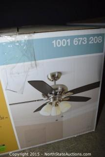 Hampton Bay Large Room Ceiling Fan and Light