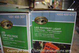 Lot of Hampton Bay LED Pathway Lights