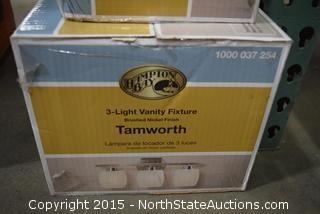Lot of Hampton Bay 3-Light Vanity Fixtures