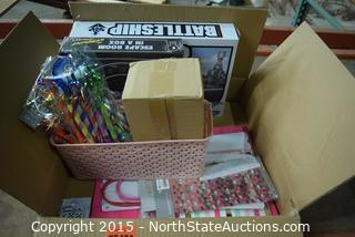 Lot of Party Supplies and Games