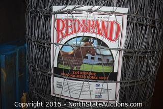 Red Brand 2x4 Keepsafe Diamond-Mesh Horse Fence