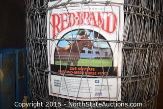 Red Brand 2x4 Keepsafe Diamond-Mesh Horse Fence