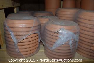 Lot of Terracotta Pots and Saucers (2)