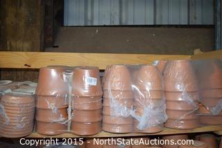 Lot of Terracotta Pots and Saucers (1)