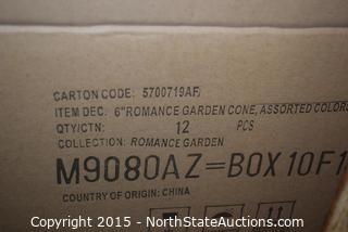 "Lot of 6"" Romance Garden Cone (Planters)"