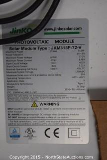Lot of Jinko Solar Solar Panels (5)