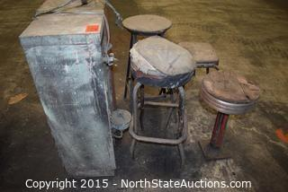 Old Water Fountain and Stools