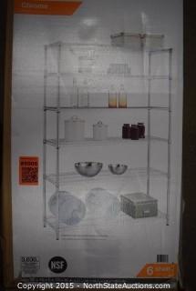 HEX Heavy Duty 6-Shelf Storage Unit