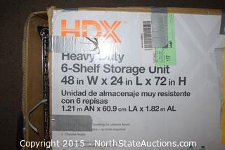 HDX Heavy Duty 6-Shelf Storage Unit