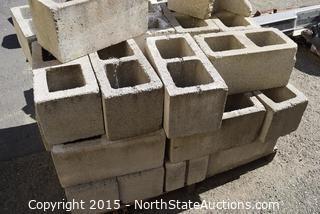 Pallet of Cinder Blocks