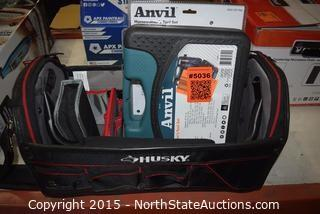 Lot of Misc Tools in Husky Tool Bag