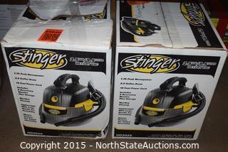 Lot of  Stinger 2.5-Gallon Wet and Dry Vac