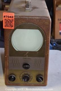 1949 Silvertone Portable TV