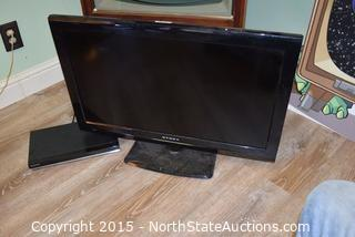 "Dynex 32"" TV and Samsung DVD Player"