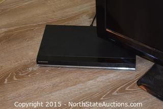 "Dynex 32"" TV and Samsung DVD Player"