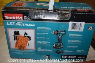 "Makita 18V Lithium-ion  Compact Brushless 1/2"" Driver-Drill Kit"