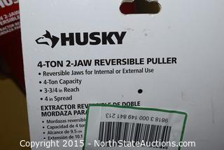 Lot of Husky 4-Ton 2-Jaw Reversible Puller